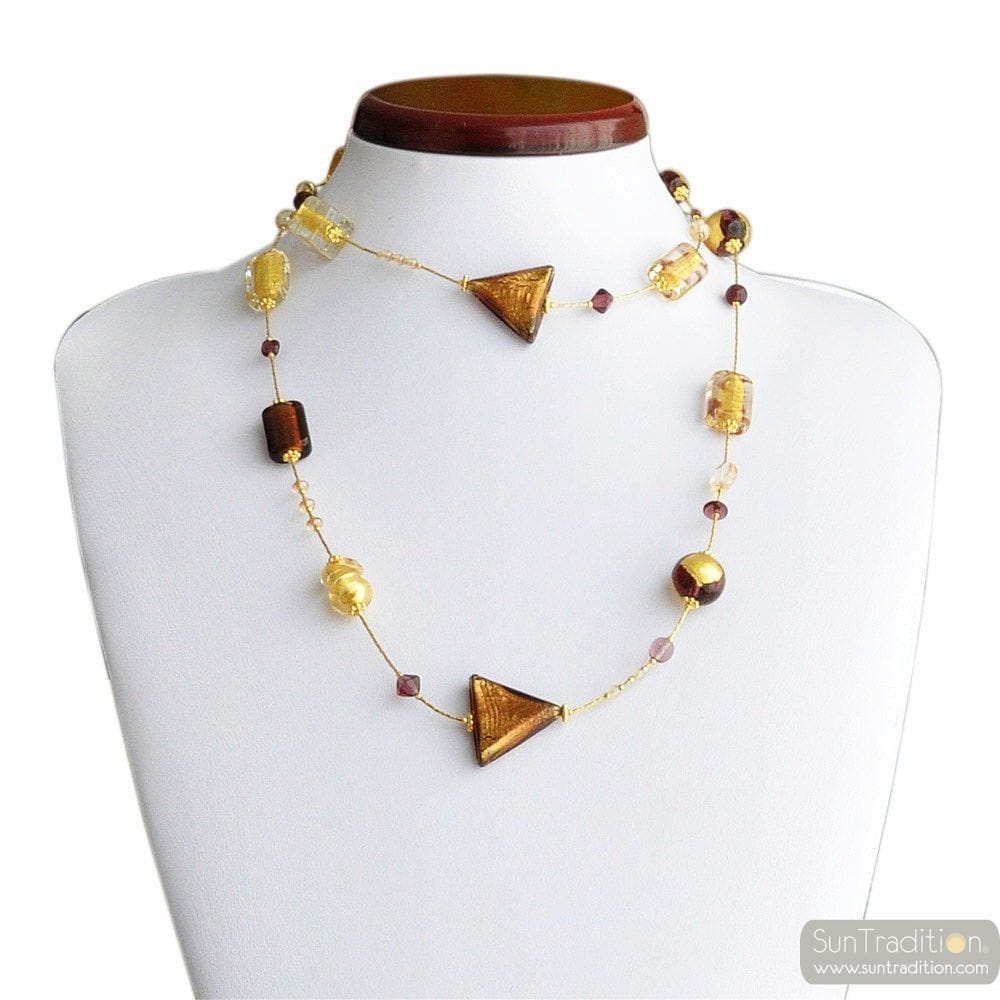 NECKLACE MURANO GOLD LONG