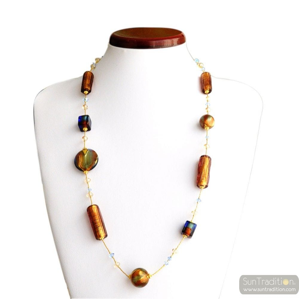 NECKLACE MURANO AMBER