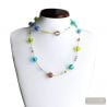 NECKLACE LONG NECKLACE GLASS MURANO BLUE
