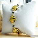 Charly gold - Genuine gold Murano glass bracelet Venice