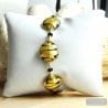 GOLD GENUINE MURANO GLASS BRACELET VENICE