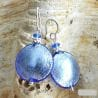 BLUE MURANO GLASS EARRINGS REAL VENICE MURANO GLASS