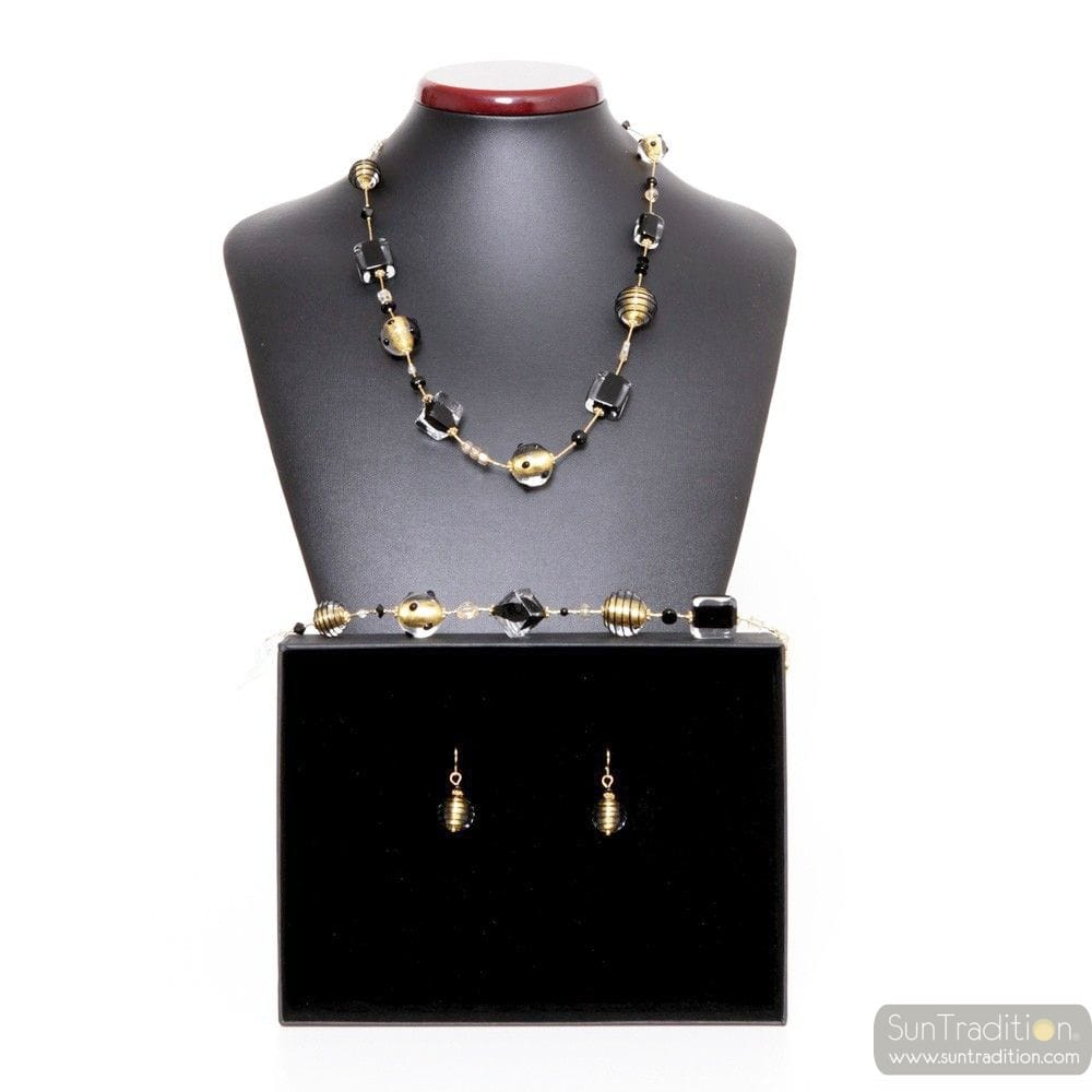 GOLD MURANO GLASS SET VENITIAN JEWELRY
