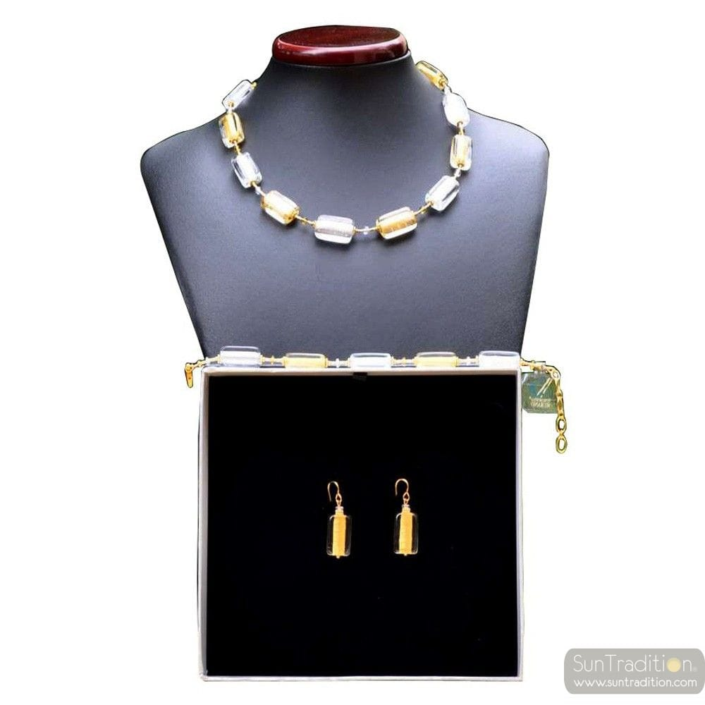 GOLS MURANO GLASS SET VENICE JEWELRY