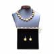 PASTIGLIA GOLD AND PARMA - PARMA AND GOLD MURANO GLASS JEWELLERY SET IN REAL VENITIAN GLASS