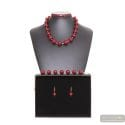 BALL RED AND GOLD - RED MURANO GLASS JEWELLERY SET FROM VENICE