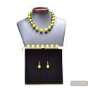 BALL ANIS GREEN JEWELRY SET IN REAL MURANO GLASS VENICE