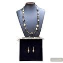 FENICIO GOLD LONG JEWELRY SET IN REAL GLASS MURANO VENICE