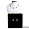 GOLD REAL MURANO GLASS JEWELRY SET VENICE