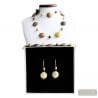 GOLD MURANO GLASS JEWELRY SET MURANO GLASS VENICE