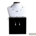JOJO MINI BLACK AND SILVER JEWELRY SET IN REAL MURANO GLASS