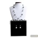 RUMBA BLACK JEWELRY SET MURANO GLASS VENICE
