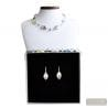SILVER MURANO GLASS JEWELRY SET REAL MURANO GLASS VENICE