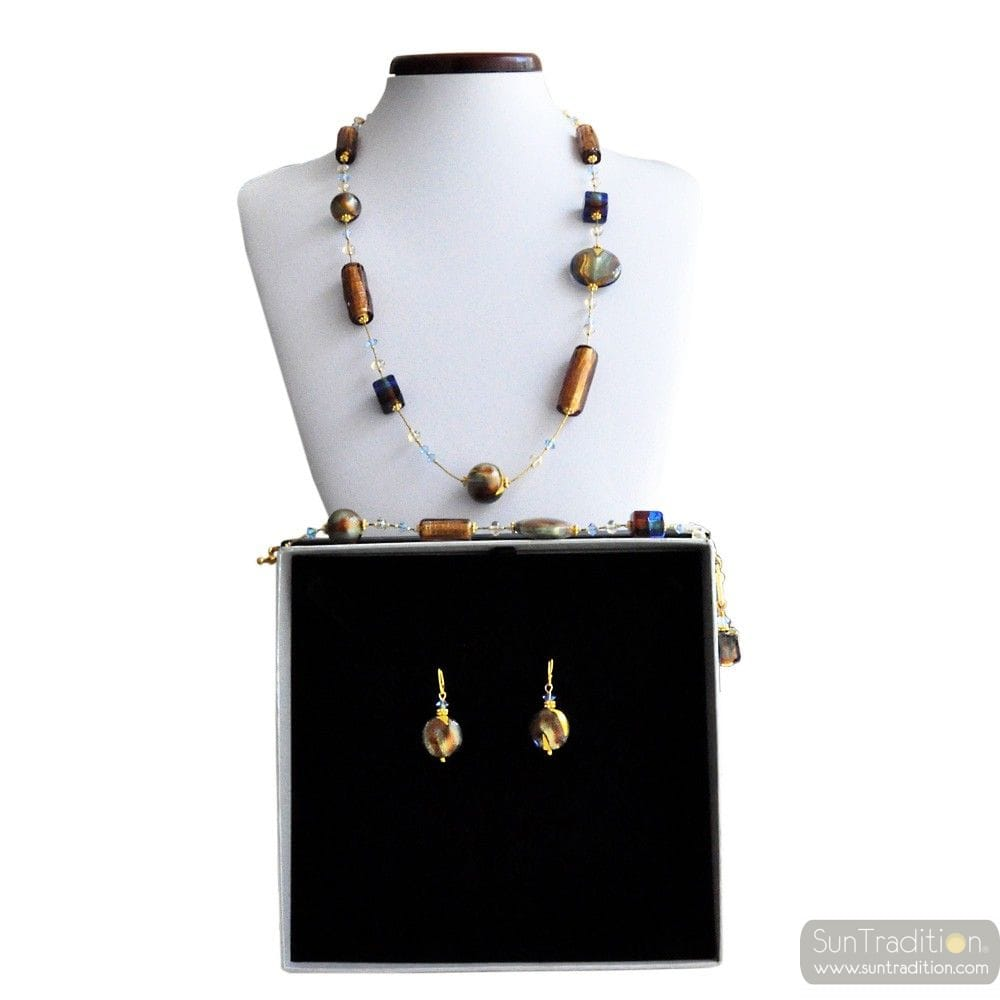 ROMANTICA JEWELRY SET IN REAL MURANO GLASS VENICE