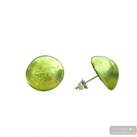 ANISE BUTTONS MURANO GLASS EARRINGS JEWELRY GENUINE MURANO GLASS VENICE