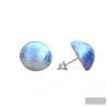 BLUE MURANO GLASS EARRINGS JEWELRY GENUINE MURANO GLASS VENITIAN