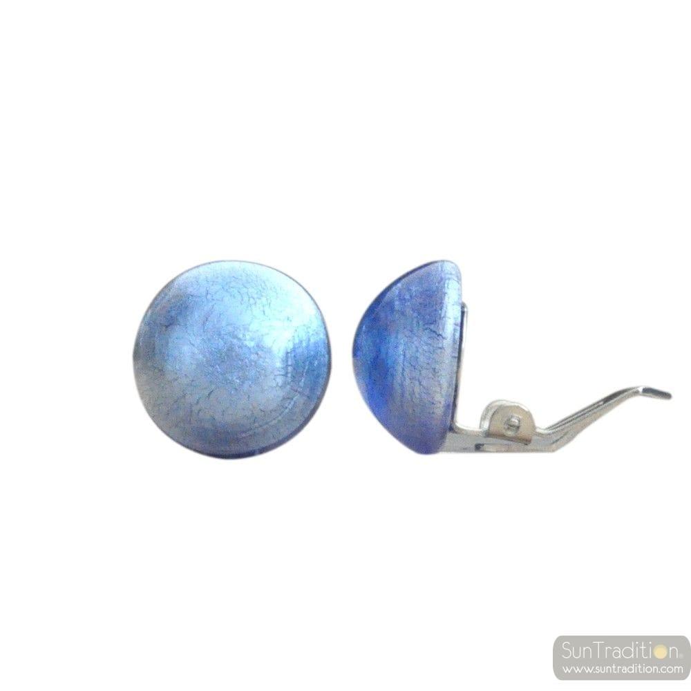 Orecchini MURANO BLU CLIP