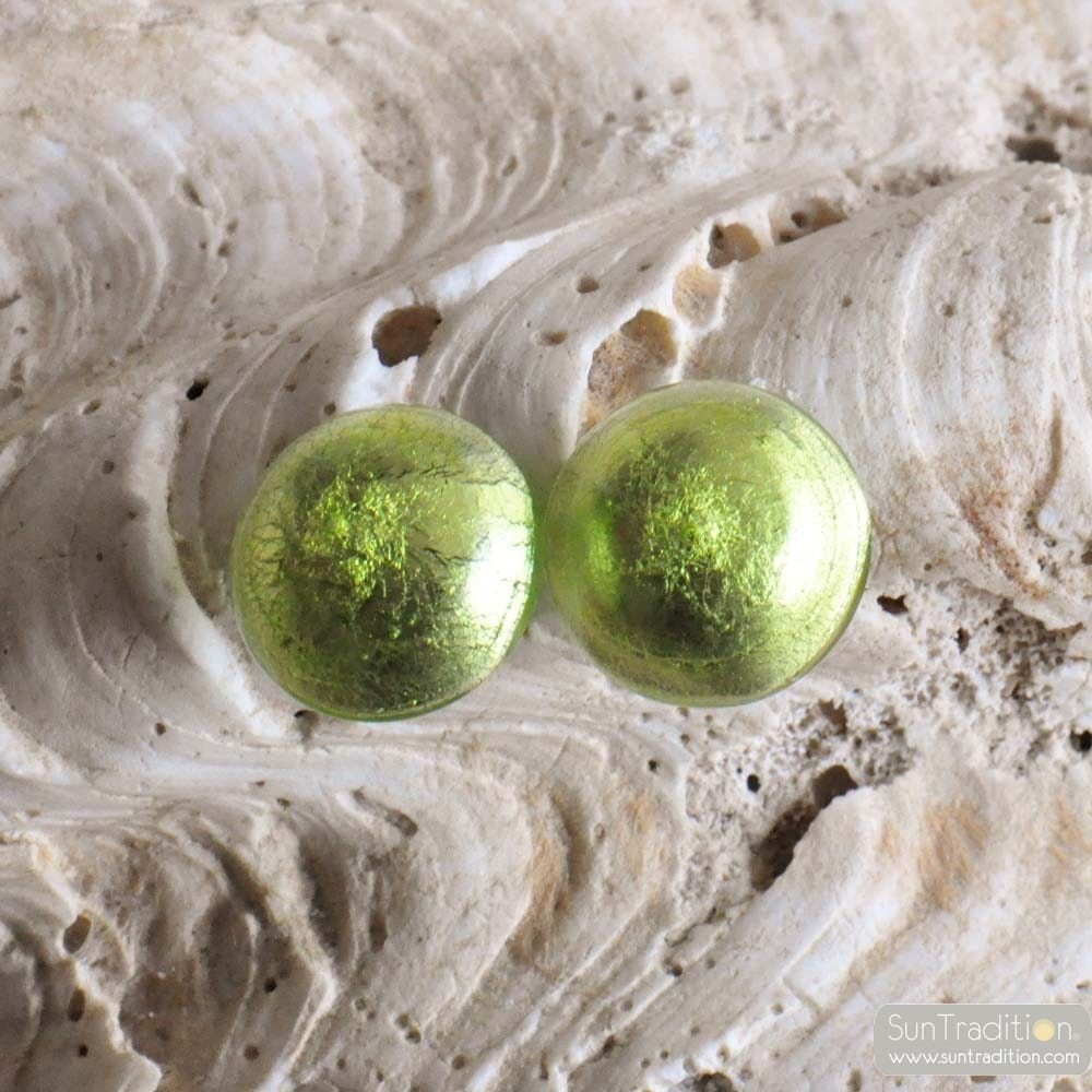 GREEN MURANO GLASS EARRINGS JEWELRY GENUINE MURANO GLASS VENICE