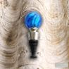 BLUE WINE STOPPER MURANO GLASS