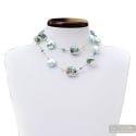 Moonlight blue - Blue Murano glass beads necklace genuine jewel of Venice Italy