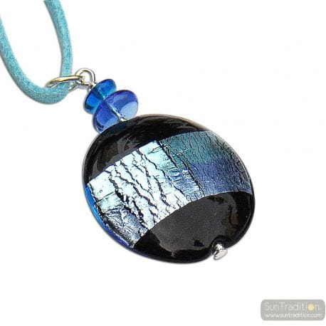 GRAY BLUE MURANO GLASS VENICE HORIZON