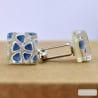 BLUE MURANO GLASS CUFFLINKS OF MURANO VENICE