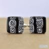 BLACK MURANO GLASS CUFFLINKS MIRO MURANO VENICE