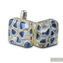CUFFLINKS MIRO BLUE GLASS OF MURANO VENICE