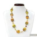 COLORADO GOLD LONG NECKLACE IN VENICE MURANO GLASS
