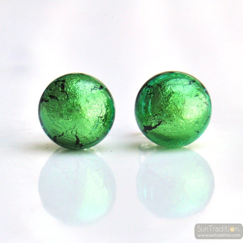 grün murano glas ohrstecker aus Venedig