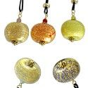 GENUINE MURANO GLASS PENDANTS CIPOLLA FROM VENEZIA