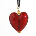 HEARTS NECKLACE GLASS MURANO VENICE
