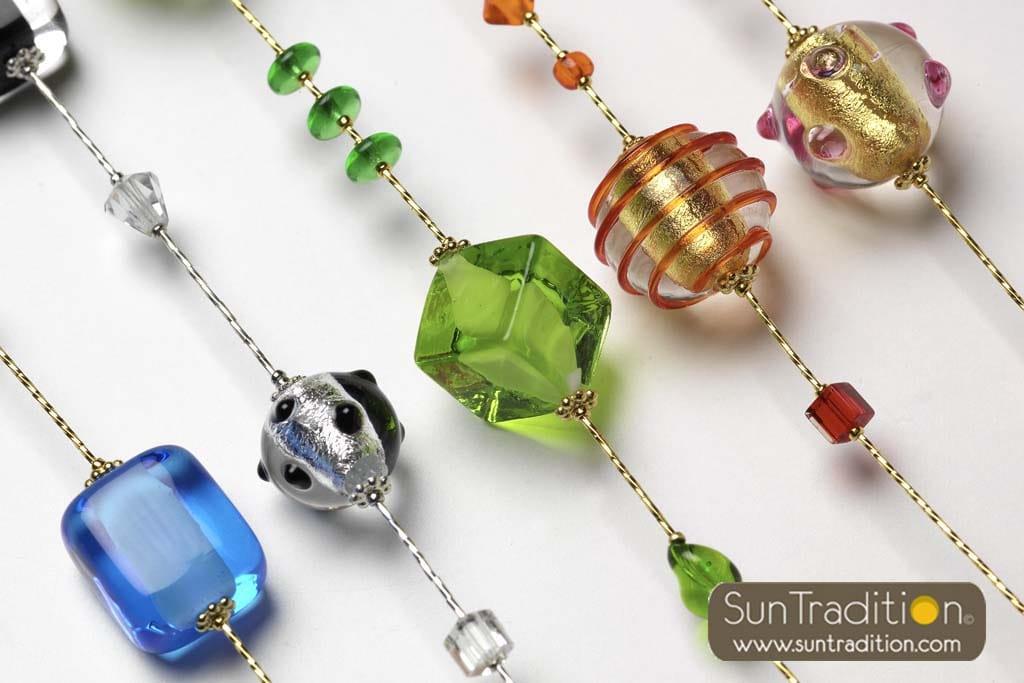 bijoux en verre de Murano de Venise