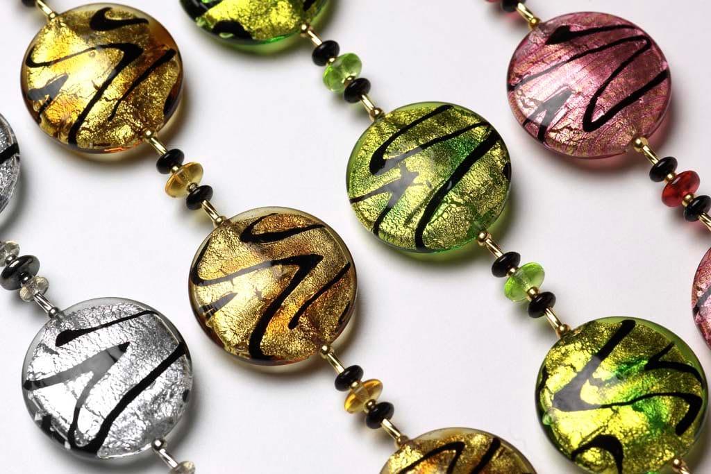 creations artisanales bijoux en verre de murano de venise