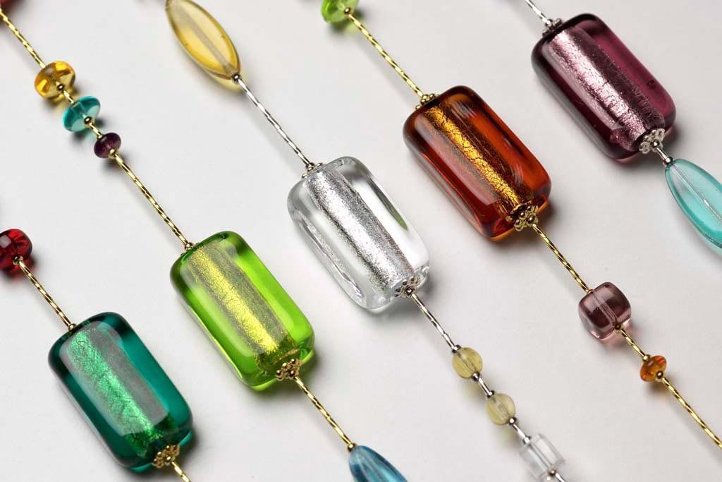 bijoux de murano multicolore