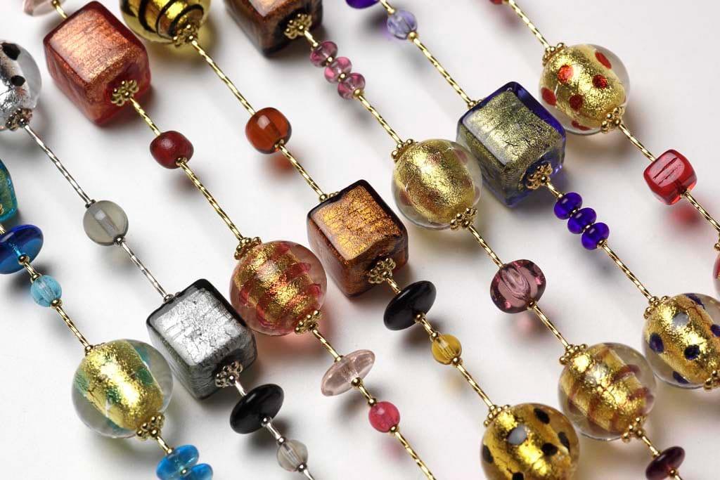 bijoux de créateur en verre de murano venise