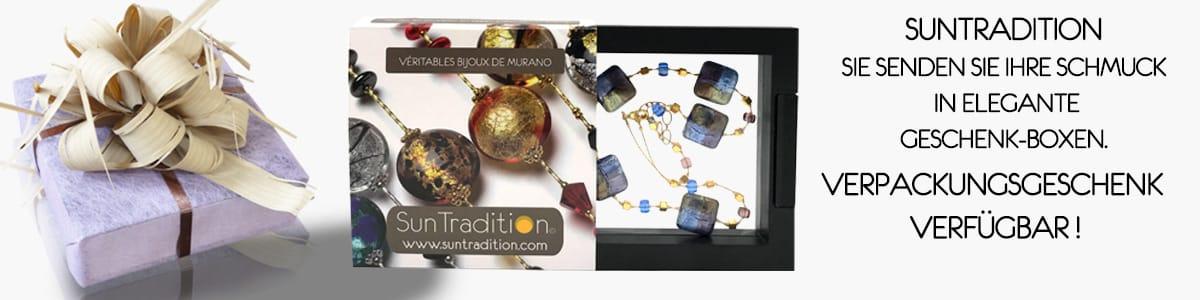 Murano Glas Schmuck Ketten Ohrringe Armbänder