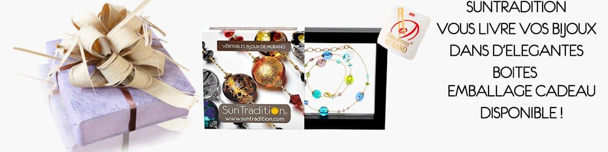 bijoux en verre de murano colliers murano, bracelets murano, boucles d'oreilles murano, parures murano, pendentif murano