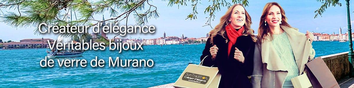 Véritable bijoux faits à la main en verre de Murano de Venise maîtres verriers créations uniques Murano collier, bracelet, boucles d'oreilles Murano, parures Murano