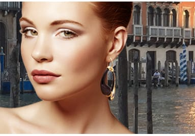 Bijoux artisanaux collier bracelet en véritable verre et argent de Murano Venise